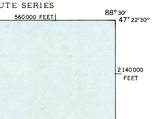 Reduced fragment of topographic map en--usgs--024k--031039--(1948)--N047-22-30_W088-37-30--N047-15-00_W088-30-00