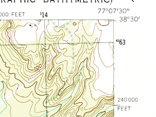 Reduced fragment of topographic map en--usgs--024k--031295--(1954)--N038-30-00_W077-15-00--N038-22-30_W077-07-30