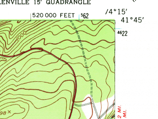 Reduced fragment of topographic map en--usgs--024k--031307--(1956)--N041-45-00_W074-22-30--N041-37-30_W074-15-00; towns and cities Napanoch