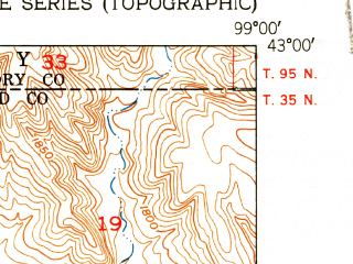 Reduced fragment of topographic map en--usgs--024k--031310--(1951)--N043-00-00_W099-07-30--N042-52-30_W099-00-00; towns and cities Naper