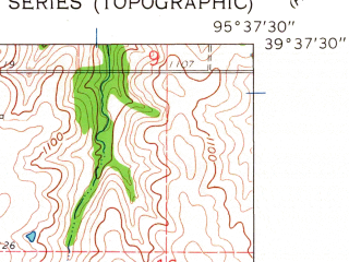 Reduced fragment of topographic map en--usgs--024k--031599--(1961)--N039-37-30_W095-45-00--N039-30-00_W095-37-30; towns and cities Netawaka