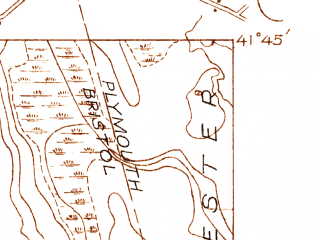 Reduced fragment of topographic map en--usgs--024k--031644--(1936)--N041-45-00_W071-00-00--N041-37-30_W070-52-30; towns and cities New Bedford, Acushnet Center, Smith Mills
