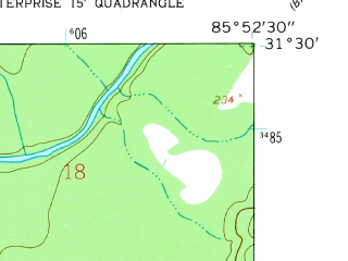 Reduced fragment of topographic map en--usgs--024k--031665--(1960)--N031-30-00_W086-00-00--N031-22-30_W085-52-30; towns and cities New Brockton