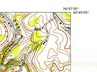 Reduced fragment of topographic map en--usgs--024k--031712--(1953)--N039-45-00_W076-45-00--N039-37-30_W076-37-30; towns and cities New Freedom