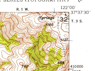 Reduced fragment of topographic map en--usgs--024k--031895--(1947)--N037-37-30_W122-07-30--N037-30-00_W122-00-00; towns and cities Union City, Newark