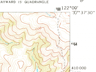 Reduced fragment of topographic map en--usgs--024k--031895--(1959)--N037-37-30_W122-07-30--N037-30-00_W122-00-00; towns and cities Union City, Newark
