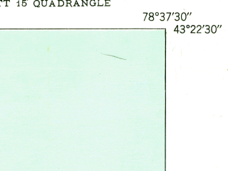 Reduced fragment of topographic map en--usgs--024k--031952--(1950)--N043-22-30_W078-45-00--N043-15-00_W078-37-30; towns and cities Newfane, Olcott