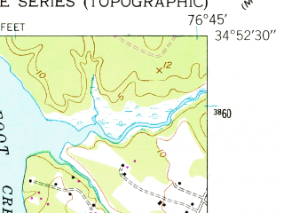 Reduced fragment of topographic map en--usgs--024k--031985--(1951)--N034-52-30_W076-52-30--N034-45-00_W076-45-00; towns and cities Newport