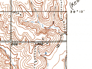 Reduced fragment of topographic map en--usgs--024k--032383--(1935)--N039-15-00_W094-37-30--N039-07-30_W094-30-00; towns and cities Gladstone, Avondale, Houston Lake, North Kansas City