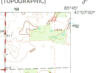 Reduced fragment of topographic map en--usgs--024k--032398--(1962)--N041-07-30_W085-52-30--N041-00-00_W085-45-00; towns and cities North Manchester