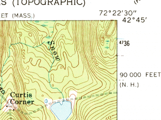 Reduced fragment of topographic map en--usgs--024k--032522--(1961)--N042-45-00_W072-30-00--N042-37-30_W072-22-30; towns and cities Northfield