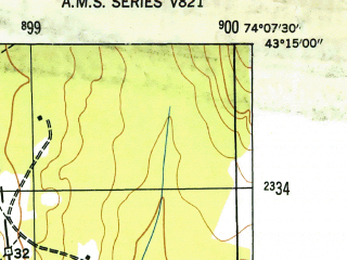 Reduced fragment of topographic map en--usgs--024k--032544--(1946)--N043-15-00_W074-15-00--N043-07-30_W074-07-30; towns and cities Northville