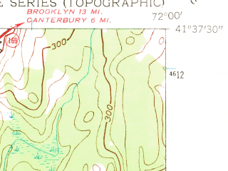 Reduced fragment of topographic map en--usgs--024k--032602--(1954)--N041-37-30_W072-07-30--N041-30-00_W072-00-00; towns and cities Norwich