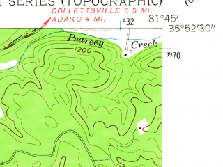 Reduced fragment of topographic map en--usgs--024k--032732--(1956)--N035-52-30_W081-52-30--N035-45-00_W081-45-00