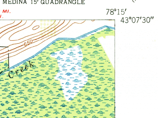 Reduced fragment of topographic map en--usgs--024k--032782--(1952)--N043-07-30_W078-22-30--N043-00-00_W078-15-00; towns and cities Oakfield