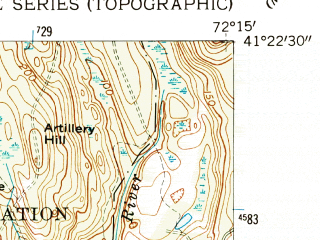 Reduced fragment of topographic map en--usgs--024k--033092--(1958)--N041-22-30_W072-22-30--N041-15-00_W072-15-00; towns and cities Fenwick, Old Saybrook Center