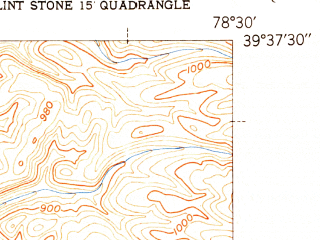 Reduced fragment of topographic map en--usgs--024k--033130--(1951)--N039-37-30_W078-37-30--N039-30-00_W078-30-00
