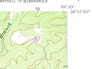 Reduced fragment of topographic map en--usgs--024k--033256--(1955)--N036-37-30_W084-37-30--N036-30-00_W084-30-00; towns and cities Oneida