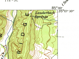 Reduced fragment of topographic map en--usgs--024k--033290--(1941)--N035-07-30_W085-07-30--N035-00-00_W085-00-00; towns and cities East Brainerd, Collegedale, Ooltewah