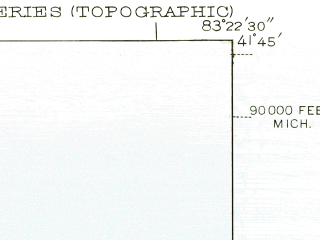 Reduced fragment of topographic map en--usgs--024k--033386--(1952)--N041-45-00_W083-30-00--N041-37-30_W083-22-30; towns and cities Oregon, Harbor View