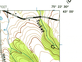 Reduced fragment of topographic map en--usgs--024k--033426--(1944)--N043-00-00_W075-30-00--N042-52-30_W075-22-30; towns and cities Oriskany Falls, Waterville
