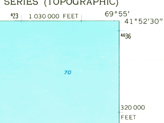 Reduced fragment of topographic map en--usgs--024k--033441--(1962)--N041-52-30_W070-02-30--N041-45-00_W069-55-00; towns and cities North Eastham, Orleans