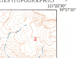 Reduced fragment of topographic map en--usgs--024k--033470--(1950)--N039-37-30_W121-30-00--N039-30-00_W121-22-30; towns and cities Oroville East