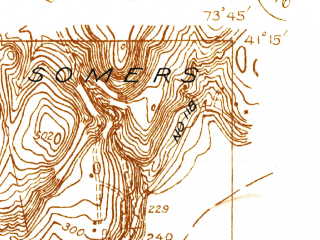 Reduced fragment of topographic map en--usgs--024k--033568--(1936)--N041-15-00_W073-52-30--N041-07-30_W073-45-00; towns and cities Ossining, Briarcliff Manor, Pleasantville
