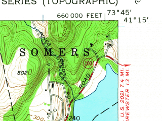 Reduced fragment of topographic map en--usgs--024k--033568--(1955)--N041-15-00_W073-52-30--N041-07-30_W073-45-00; towns and cities Ossining, Briarcliff Manor, Pleasantville