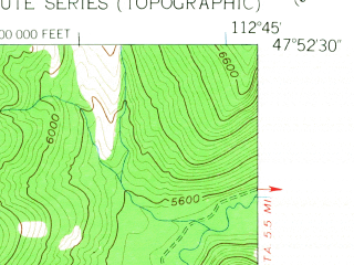Reduced fragment of topographic map en--usgs--024k--033647--(1958)--N047-52-30_W112-52-30--N047-45-00_W112-45-00