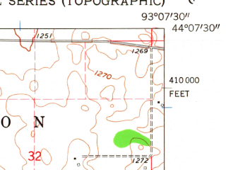 Reduced fragment of topographic map en--usgs--024k--033703--(1962)--N044-07-30_W093-15-00--N044-00-00_W093-07-30; towns and cities Owatonna