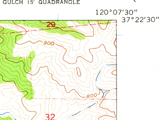 Reduced fragment of topographic map en--usgs--024k--033723--(1962)--N037-22-30_W120-15-00--N037-15-00_W120-07-30