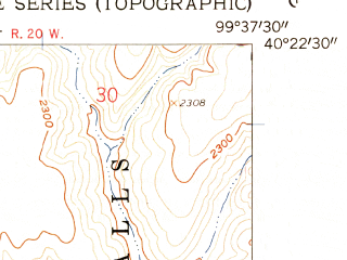 Reduced fragment of topographic map en--usgs--024k--033776--(1958)--N040-22-30_W099-45-00--N040-15-00_W099-37-30; towns and cities Oxford