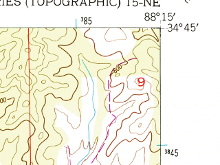 Reduced fragment of topographic map en--usgs--024k--033869--(1950)--N034-45-00_W088-22-30--N034-37-30_W088-15-00; towns and cities Paden