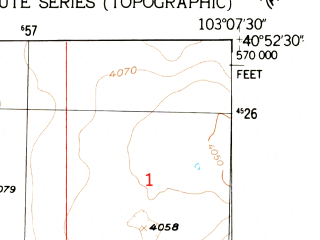 Reduced fragment of topographic map en--usgs--024k--033877--(1952)--N040-52-30_W103-15-00--N040-45-00_W103-07-30