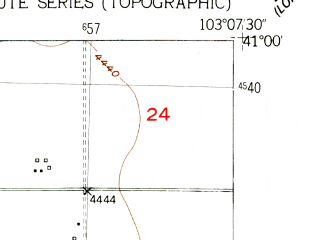 Reduced fragment of topographic map en--usgs--024k--033878--(1951)--N041-00-00_W103-15-00--N040-52-30_W103-07-30