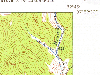 Reduced fragment of topographic map en--usgs--024k--033943--(1954)--N037-52-30_W082-52-30--N037-45-00_W082-45-00; towns and cities Paintsville, Van Lear
