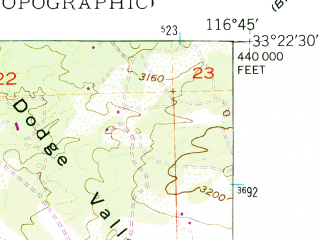 Reduced fragment of topographic map en--usgs--024k--034046--(1949)--N033-22-30_W116-52-30--N033-15-00_W116-45-00