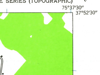 Reduced fragment of topographic map en--usgs--024k--034272--(1942)--N037-52-30_W075-45-00--N037-45-00_W075-37-30; towns and cities Parksley