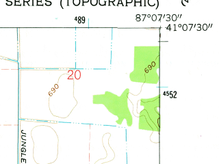 Reduced fragment of topographic map en--usgs--024k--034301--(1962)--N041-07-30_W087-15-00--N041-00-00_W087-07-30