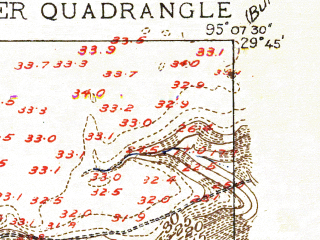 Reduced fragment of topographic map en--usgs--024k--034334--(1915)--N029-45-00_W095-15-00--N029-37-30_W095-07-30; towns and cities Pasadena, Galena Park, South Houston
