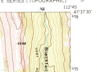 Reduced fragment of topographic map en--usgs--024k--034403--(1958)--N047-37-30_W112-52-30--N047-30-00_W112-45-00