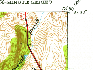 Reduced fragment of topographic map en--usgs--024k--034461--(1945)--N041-37-30_W073-37-30--N041-30-00_W073-30-00; towns and cities Pawling
