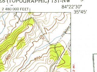 Reduced fragment of topographic map en--usgs--024k--034951--(1952)--N035-45-00_W084-30-00--N035-37-30_W084-22-30; towns and cities Philadelphia