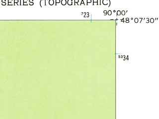 Reduced fragment of topographic map en--usgs--024k--035272--(1959)--N048-07-30_W090-07-30--N048-00-00_W090-00-00 in area of North Fowl Lake, Moose Lake