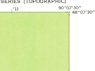 Reduced fragment of topographic map en--usgs--024k--035273--(1959)--N048-07-30_W090-15-00--N048-00-00_W090-07-30 in area of West Pike Lake
