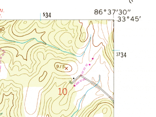Reduced fragment of topographic map en--usgs--024k--035387--(1959)--N033-45-00_W086-45-00--N033-37-30_W086-37-30; towns and cities Center Point, Pinson-clay-chalkville