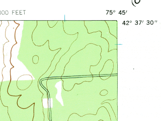 Reduced fragment of topographic map en--usgs--024k--035454--(1943)--N042-37-30_W075-52-30--N042-30-00_W075-45-00