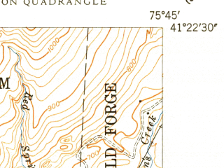 Reduced fragment of topographic map en--usgs--024k--035486--(1949)--N041-22-30_W075-52-30--N041-15-00_W075-45-00; towns and cities Exeter, Forty Fort, Pittston, Duryea, Hughestown