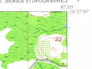 Reduced fragment of topographic map en--usgs--024k--035569--(1944)--N028-07-30_W082-07-30--N028-00-00_W082-00-00; towns and cities Winston, Kathleen